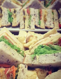 Gourmet club sandwich platter. special $48 from