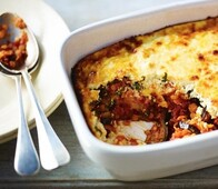 Lentil Aubergine Moussaka available frozen