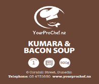 Kumara and Bacon Soup